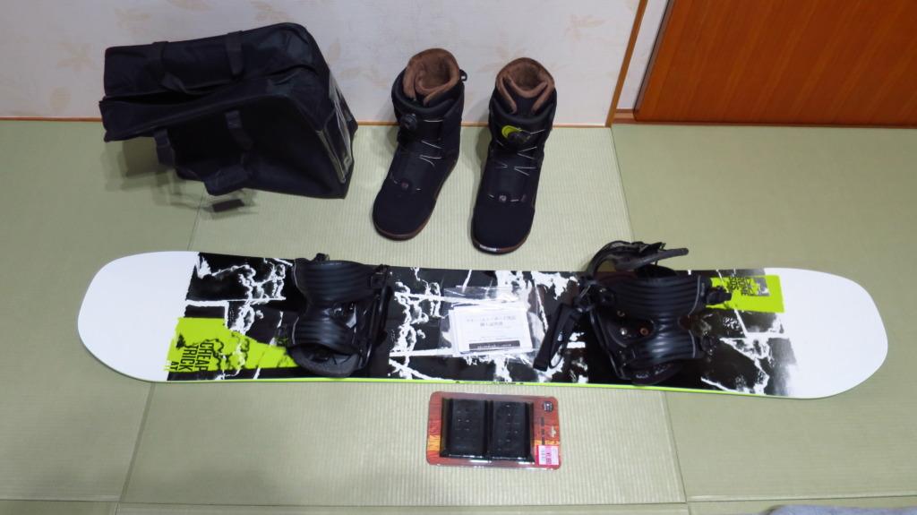 スノーボード板・バイン・ブーツ購入!暖冬セールで安く買う